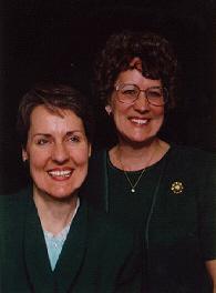 Cherith Brook on left, Sharon Northcutt (Yevette Shoshannah) on right